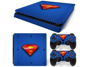 PS4 Slim Polep Skin Superman