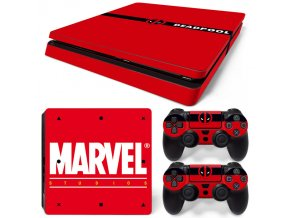 PS4 Slim Polep Skin Deadpool