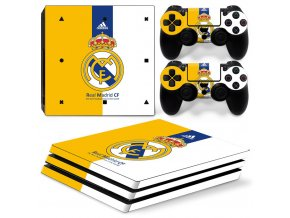 PS4 Pro Polep Skin Real Madrid CF