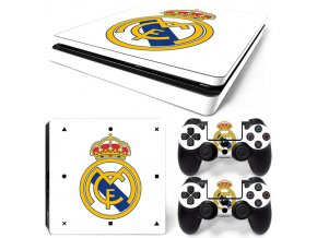 PS4 Slim Polep Skin Real Madrid CF