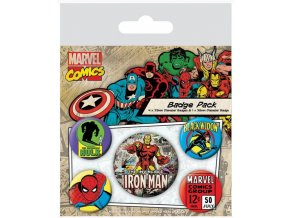 Sada placek Marvel Comics - Iron Man, 5 ks