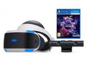 Sony Playstation VR + PS4 Camera V2 + VR Worlds