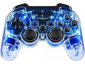PS3 Bezdrátový Ovladač AfterGlow - průhledný