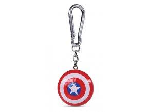 Klíčenka Captain America - 3D štít