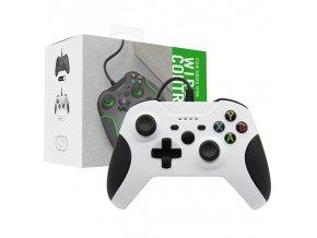 Xbox One ovladač drátový bílý