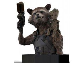 Semic Guardians of the Galaxy Vol. 2 Bust 1/6 Rocket Raccoon & Groot 16 cm