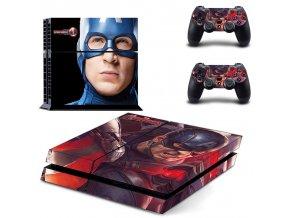 PS4 Polep Skin Avengers - Captain America