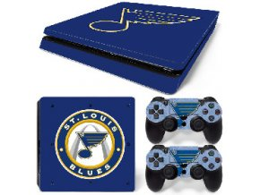 PS4 Slim Polep Skin St. Louis Blues