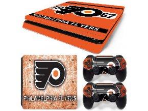 PS4 Slim Polep Skin Philadelphia Flyers