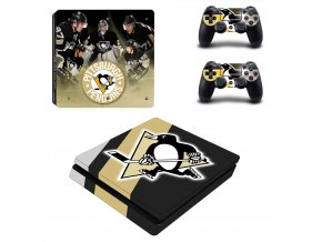 PS4 Slim Polep Skin Pittsburgh Penguins