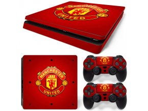 PS4 Slim Polep Skin Manchester United FC