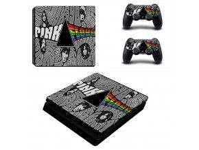 PS4 Slim Polep Skin Pink Floyd