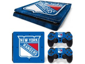 PS4 Slim Polep Skin New York Rangers