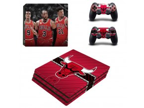 PS4 Pro Polep Skin Chicago Bulls