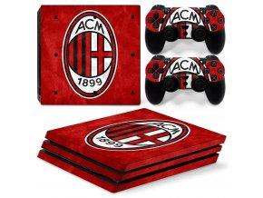 PS4 Pro Polep Skin AC Milan