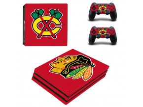 PS4 Pro Polep Skin NHL - Chicago Blackhawks