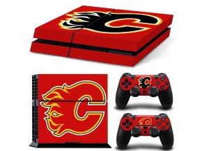 PS4 Polep Skin Calgary Flames