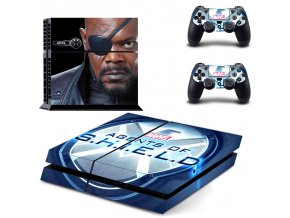 PS4 Polep Skin Agents of SHIELD - Nick Fury