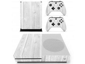 Xbox One S Polep Skin Gray Wood
