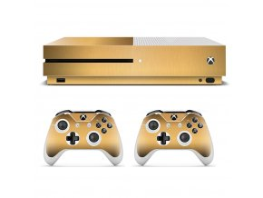 Xbox One S Polep Skin Golden