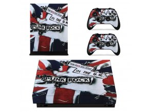 Xbox One X Polep Skin Punk Rock