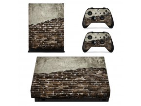 Xbox One X Polep Skin Wall