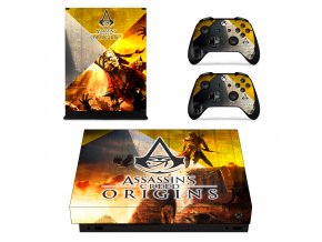 Xbox One X Polep Skin Assassins Creed Origins