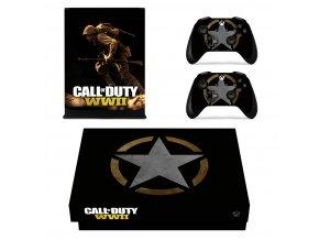 Xbox One X Polep Skin Call of Duty WWII