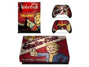 Xbox One X Polep Skin Nuka-Cola Fallout
