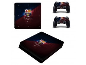 PS4 Slim Polep Skin FC Barcelona