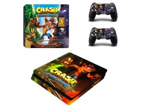 PS4 Slim Polep Skin Crash Bandicoot