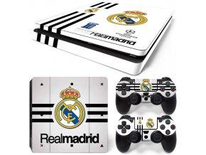 PS4 Slim Polep Skin Real Madrid CF