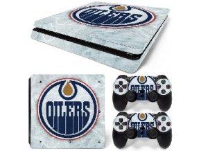 PS4 Slim Polep Skin Edmonton Oilers