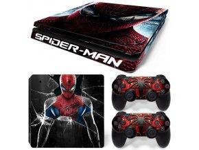 PS4 Slim Polep Skin Spiderman