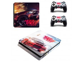 PS4 Slim Polep Skin Need for Speed Payback