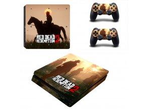 PS4 Slim Polep Skin Red Dead Redemption 2
