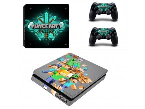 PS4 Slim Polep Skin Minecraft