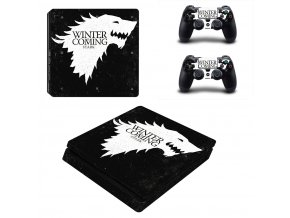 PS4 Slim Polep Skin Game of Thrones