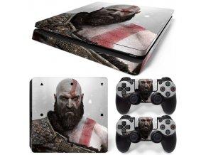 PS4 Slim Polep Skin God of War
