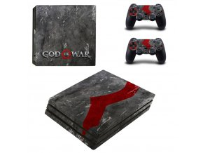PS4 Pro Polep Skin God of War