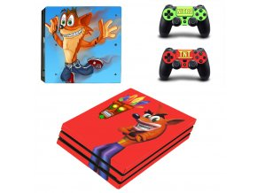 PS4 Pro Polep Skin Crash Bandicoot
