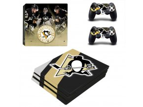 PS4 Pro Polep Skin NHL - Pittsburgh Penguins