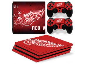 PS4 Pro Polep Skin NHL - Detroit Red Wings