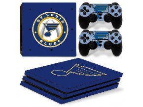 PS4 Pro Polep Skin NHL - St. Louis Blues