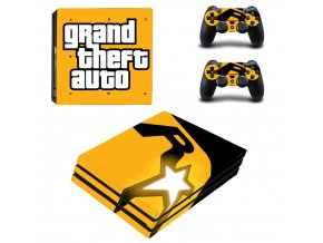 PS4 Pro Polep Skin Grand Theft Auto