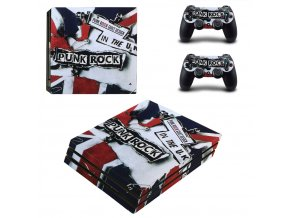 PS4 Pro Polep Skin Punk Rock