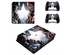 PS4 Pro Polep Skin Avengers Civil War