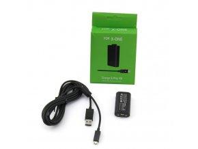 Dobíjecí baterie k ovladači Xbox One + napájecí kabel