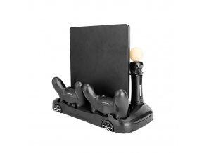 PS4 Vertikální nabíjecí USB stojan s chlazením