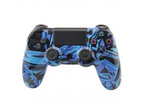 PS4 Bezdrátový ovladač - blue grafitti